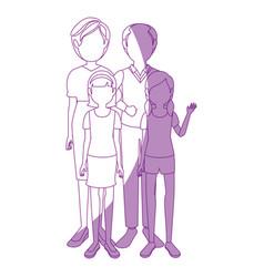 family grandparents grandchildren vector image