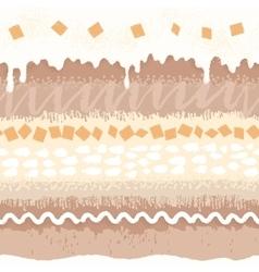 Seamless pattern sweet dessert with cream vector image