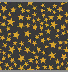 the orange stars pattern vector image vector image