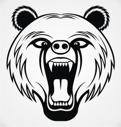 Angry Bear Head Tribal vector image vector image