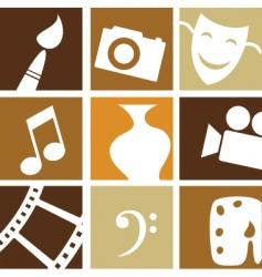 art entertainment vector image vector image