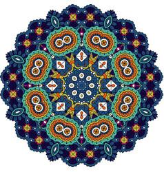 blue and green mandala vector image vector image