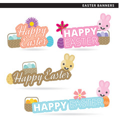 easter banners vector image vector image