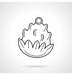 Flat line style pine cone icon vector image vector image