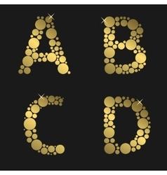Golden letter set vector image