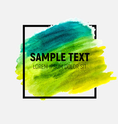 hand drawn watercolor brush paint background vector image vector image