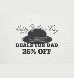Happy father s day greeting detailed elements vector