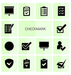 14 checkmark icons vector image