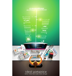 3d infographic teamwork and brainstorming vector