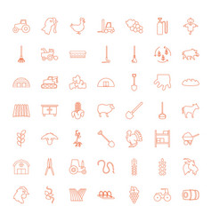 49 agriculture icons vector image