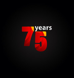 75 years anniversary red light template design vector