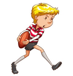 A simple sketch of a rugby player vector image