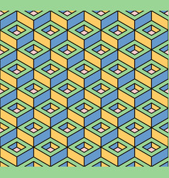 abstract colorful geometric isometric seamless vector image