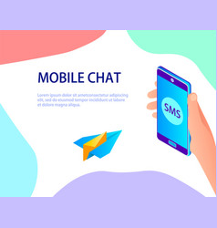 abstraction on the subject of mobile chat vector image