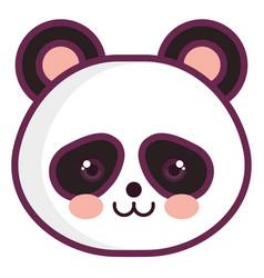 animal panda vector image