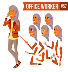 Arab office worker woman traditional vector