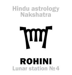 Astrology lunar station rohini nakshatra vector