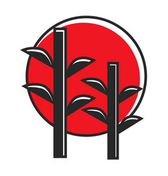 Bamboo in red circle vector