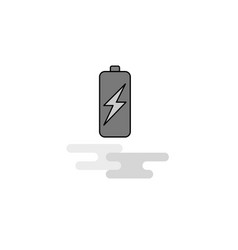 battery charging web icon flat line filled gray vector image