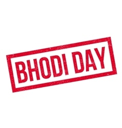 Bhodi Day rubber stamp vector