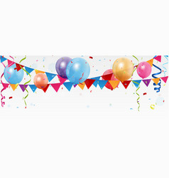 birthday celebration banner vector image