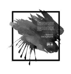 Black ink blot banner vector