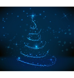 blue christmastree background vector image