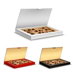 boxes chocolates vector image