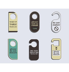 Brand identity elements- Door knob or hanger sign vector