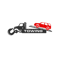 Car transport crane service logo vector