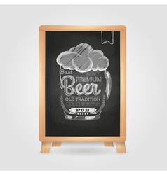 Chalk drawing Typography beer glass vector image