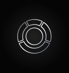 circle diagram silver icon vector image