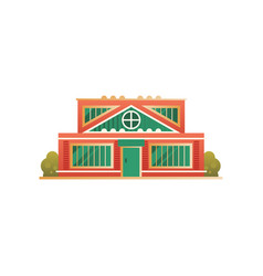 city public building facade on vector image