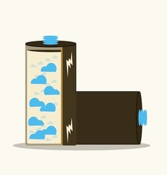 clean energy battery vector image