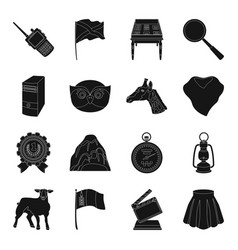 Clothing cinema mine and other web icon in black vector