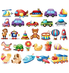 Collection toys vector