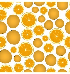 colorful orange fruits and half fruits seamless vector image