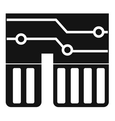Computer chipset icon simple vector