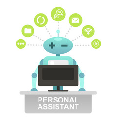Consultant robot robo advisor vector