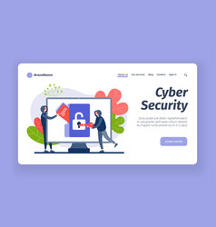 Cybersecurity from hackers digital hacking vector