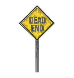 Dead end road sign sketch engraving vector