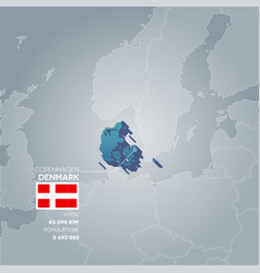 Denmark information map vector