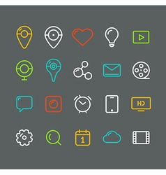 Different simple web pictograms collection vector