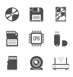 Digital storage data icons vector
