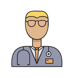 doctor simple medicine icon in trendy line style vector image