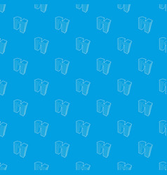 double building pattern seamless blue vector image