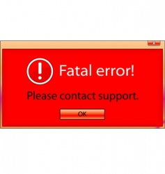 fatal error window vector image