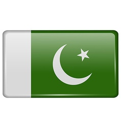 Flags Pakistan in the form of a magnet on vector