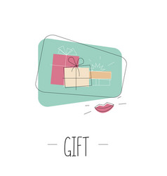 gift box outline vector image