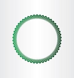 Green halftones circle background vector